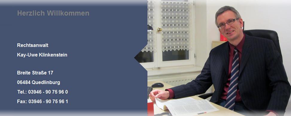 Rechtsanwalt Klinkenstein aus Quedlinburg